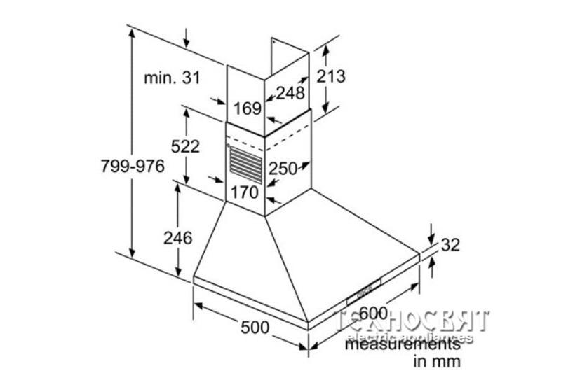 Коминен тип аспиратор Bosch DWW06W650