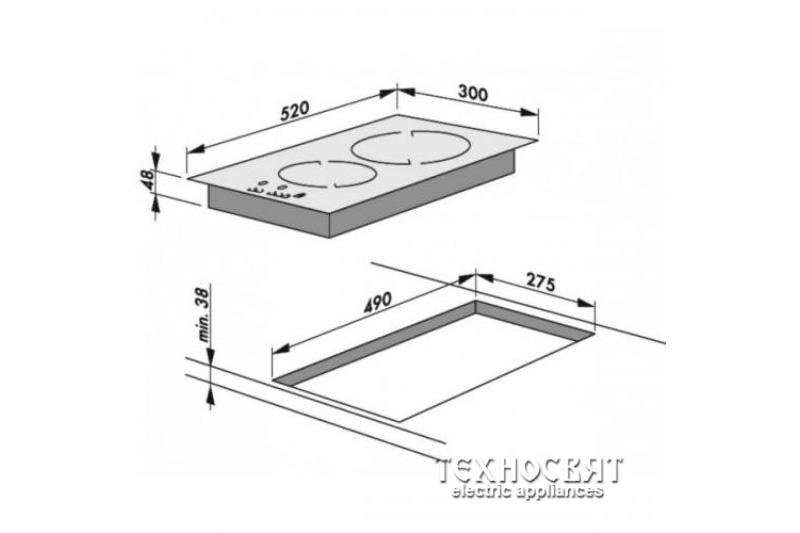 Стъклокерамичен плот BHCI35133030