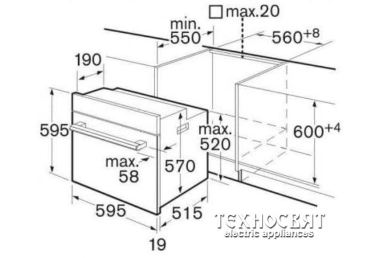 Мултифункционална фурна Bosch HBA43T350