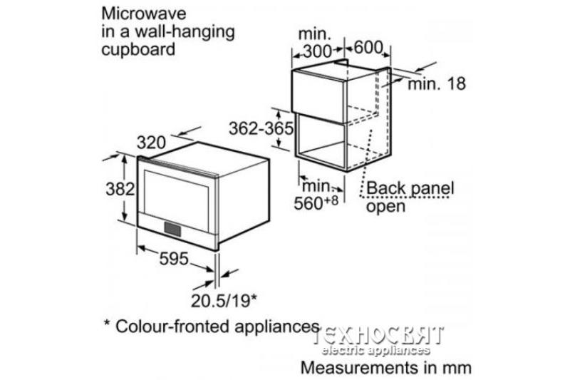 Микровълнова фурна за вграждане Bosch HMT85ML23