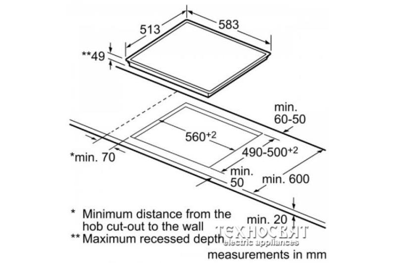 Индукционен плот Bosch PIN645F17E