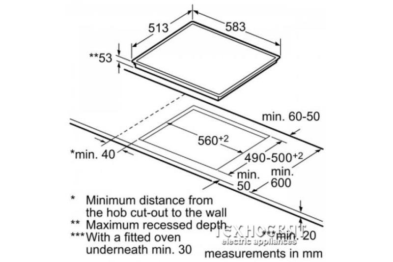 Индукционен плот Bosch  PIA645B18E