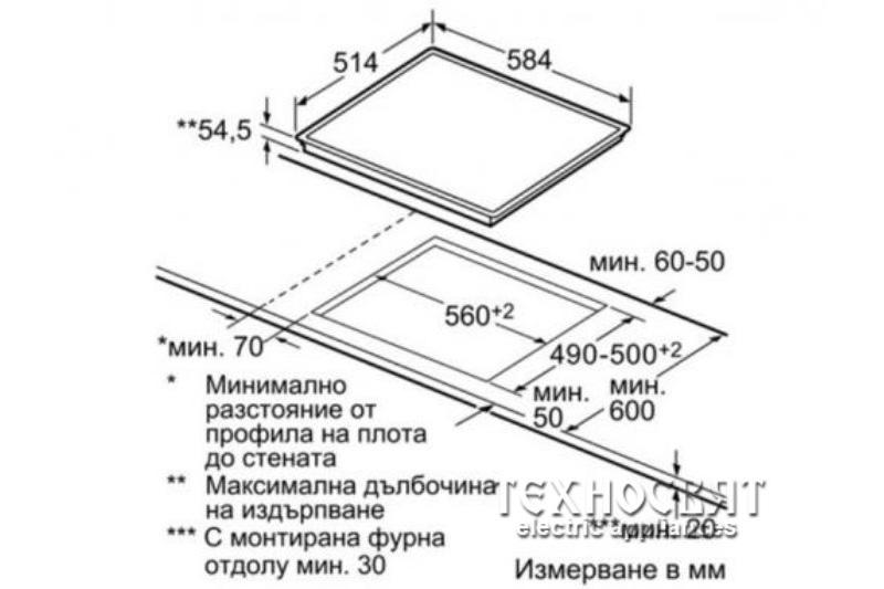 Индукционен стъклокерамичен плот Bosch  PIC645F17E