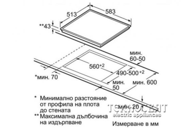Стъклокерамичен плот Bosch PKM645B17E