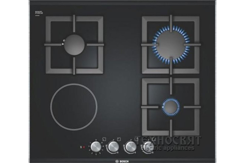 Стъклокерамичен газов плот Bosch PSY626B21E
