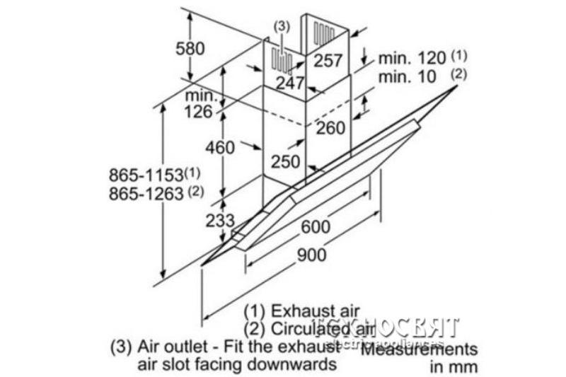 Коминен тип аспиратор Bosch DWK098E51