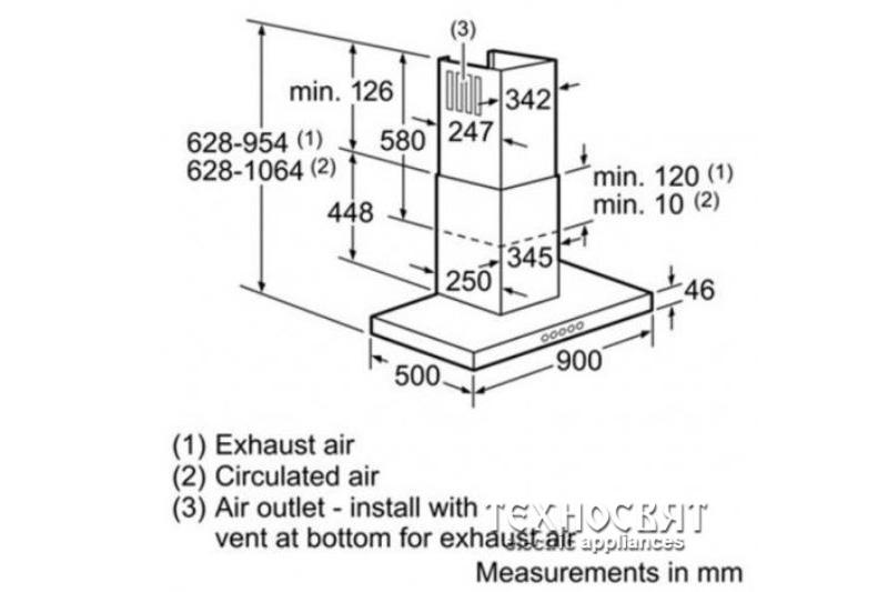 Коминен тип аспиратор Bosch DWB097A50