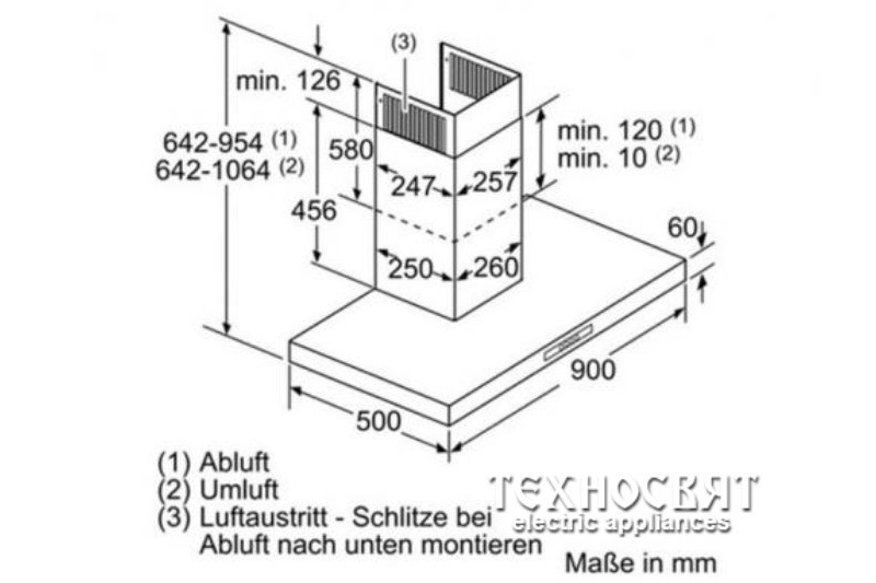 Коминен тип аспиратор Bosch DWB09W652