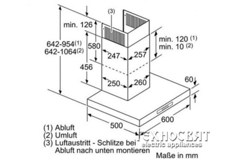 Коминен тип аспиратор Bosch DWB06W652