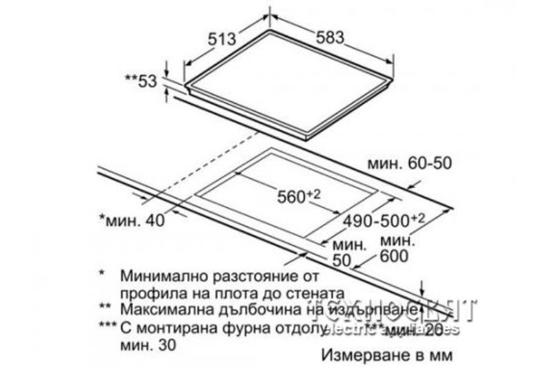 Индукционен стъклокерамичен плот Bosch PIT645F17E