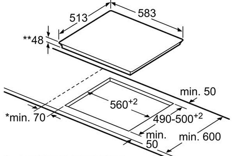 Стъклокерамичен плот Bosch PKN645F17E
