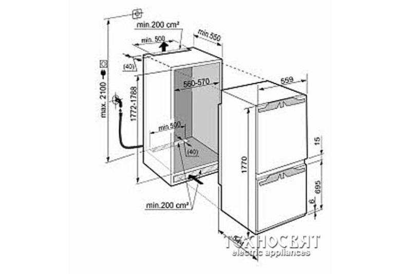 Хладилник с фризер Liebherr ICUN 3314