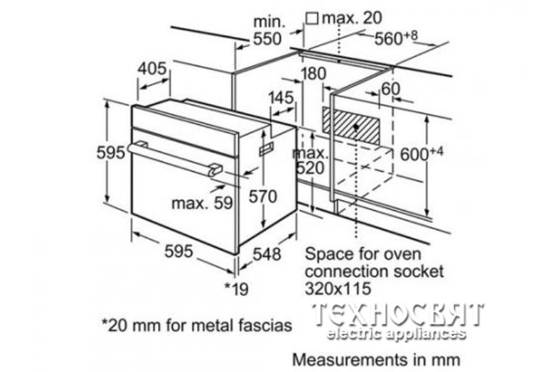 Фурна за вграждане Bosch HBN531W1F