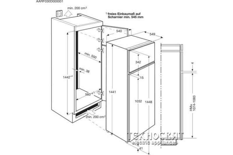 Хладилник с камера за вграждане AEG SPS61400S